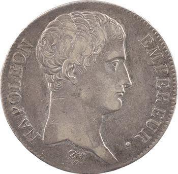 Premier Empire, 5 francs tête nue, calendrier révolutionnaire, An 14 Paris