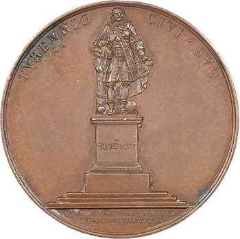 Louis XVIII, érection de la statue de Turenne à Sedan, 1823 Paris