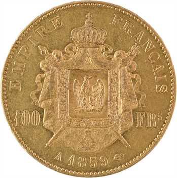 IIIe République, 100 francs Napoléon III tête nue transformée en médaille de mariage, 1859/1893 Paris