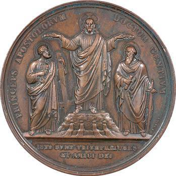 Vatican, Pie IX, dix-huitième centenaire du martyre de Saint Pierre et Saint Paul, par Voigt, 1867 Rome