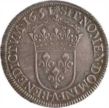 Louis XIV, demi-écu à la mèche longue, 1651/45 Paris