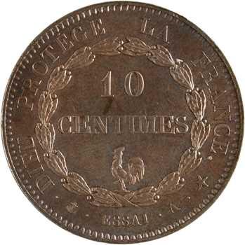 Louis-Philippe Ier, essai de 10 centimes au coq, s.d. Paris