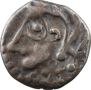 Bituriges Cubi, denier au rameau et à l'annelet, c.60-50 av. J.-C