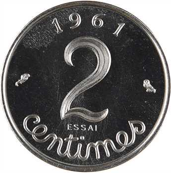 Ve République, essai de 2 centimes épi, 1961 Paris