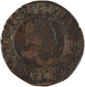 Henri III, denier tournois 2e type, 1588 Saint-Lô