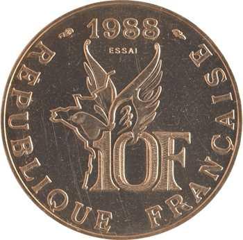 Ve République, essai de 10 francs Roland Garros, 1988 Pessac
