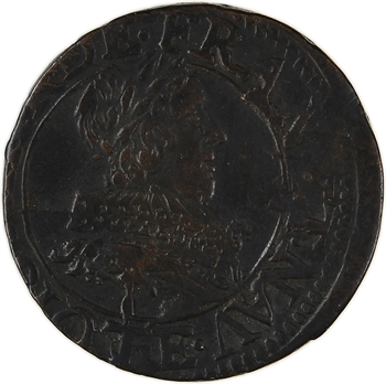 Louis XIII, double tournois 1er type, 1632 Tours
