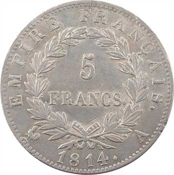 Premier Empire, 5 francs Empire, 1814 Paris