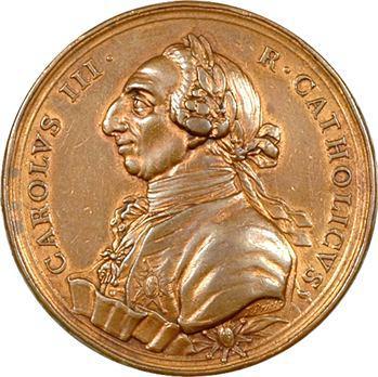 Espagne, Charles III, fondation de la Société d'Économie de Séville par T. Pietro, 1778+