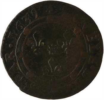 Ardennes, Charleville (principauté de), Charles Ier de Gonzague, double tournois 15e type, 1635 Charleville
