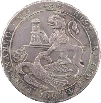 Bolivie, Ferdinand VII, médaille de proclamation au module de 8 réaux, 1808 La Plata