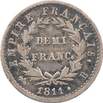 Premier Empire, demi-franc Empire, 1811 Rouen