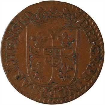 Ardennes, Charleville (principauté de), Charles Ier de Gonzague, liard 3e type, 1614 Charleville