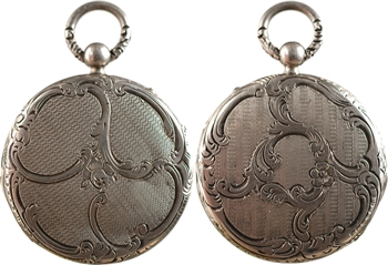 Second Empire, médaille de mariage vierge dans son boîtier en argent, s.d. Paris