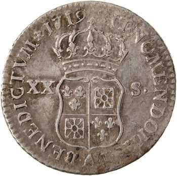 Louis XV, pièce de XX sols de Navarre, 1719 Paris