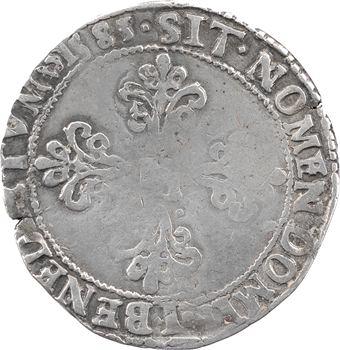 Henri III, franc au col plat, 1585 Saint-Lô