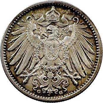 Allemagne (Empire d'), 1 mark, 1906 Karlsruhe