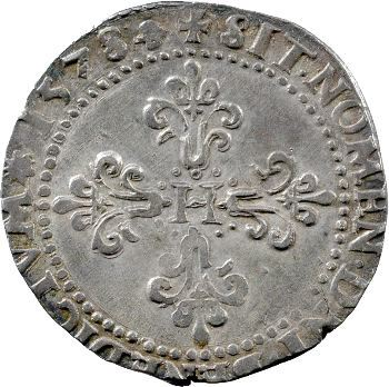 Henri III, demi-franc au col plat, 1578 La Rochelle