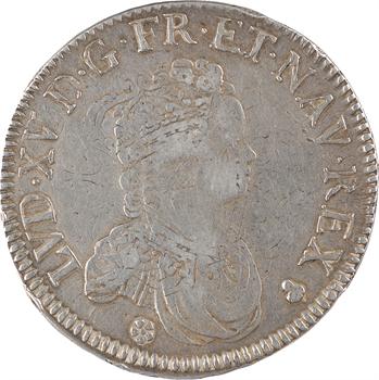 Louis XV, écu dit Vertugadin, 1718 Reims