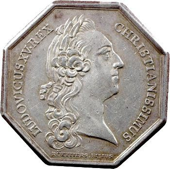 Louis XV, jeton pour le canal de Provence, 1767 Paris