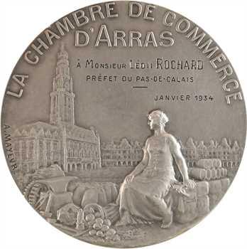 Mayeur (A.) : la Chambre de Commerce d'Arras au préfet Léon Rochard, 1934 Paris