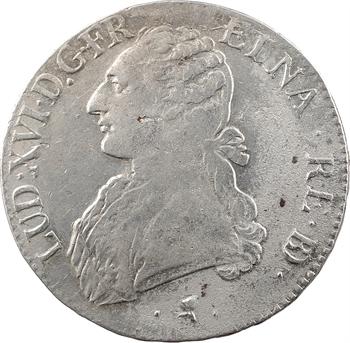 Louis XVI, écu aux branches d'olivier du Béarn, 1776 Pau