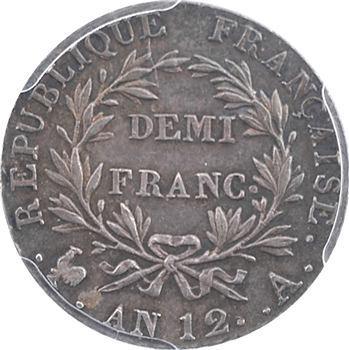 Consulat, demi-franc, PCGS AU53, An 12 Paris