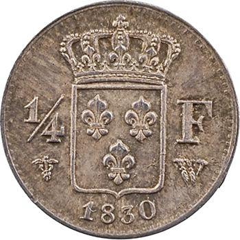 Charles X, 1/4 de franc, 1830 Lille