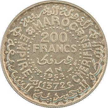 Maroc, Mohammed V, essai de 200 francs, AH 1372 (1953) Paris
