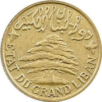 Liban, 5 piastres, type à la trirème, 1925 Paris