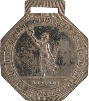 Constitution, la Fédération martiale de Lyon, insigne, 30 mai 1790, Paris
