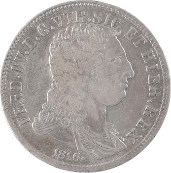 Italie, Deux-Siciles (royaume des), Ferdinand IV, 3e période, 120 grana, 1816 Naples