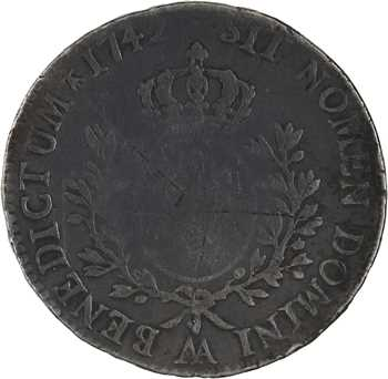 Louis XV, écu au bandeau, 1742 Metz