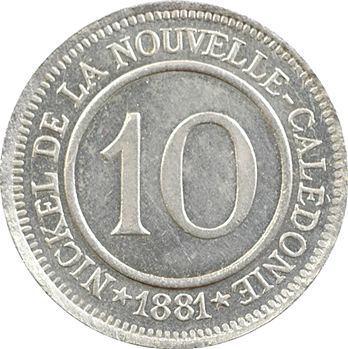 Nouvelle-Calédonie, Société le Nickel, 10 centimes, 1881