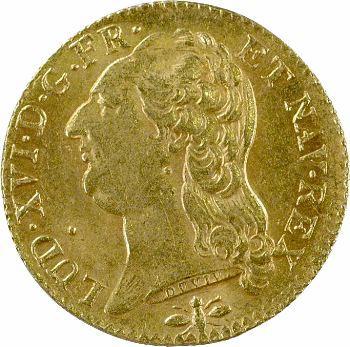 Louis XVI, louis d'or à la tête nue, 1786, 2d semestre, Lyon