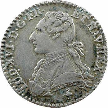 Louis XVI, dixième d'écu aux rameaux d'olivier, 1779, 2d semestre, Paris