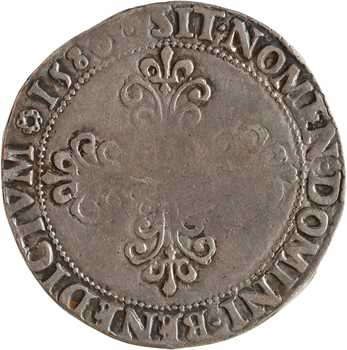 Henri III, franc au col plat, 1580 Saint-Lô