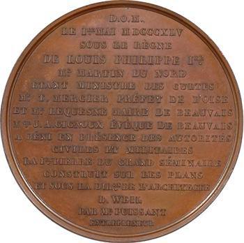 Louis-Philippe Ier, bénédiction de la première pierre du Grand séminaire, 1845 Paris