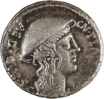 Plancia, denier, Rome, 55 av. J.-C