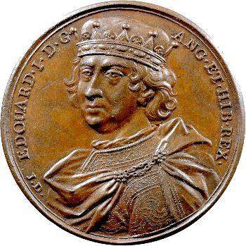 Angleterre, série des Rois par Jean Dassier, Édouard Ier, s.d. (c.1731-1732)