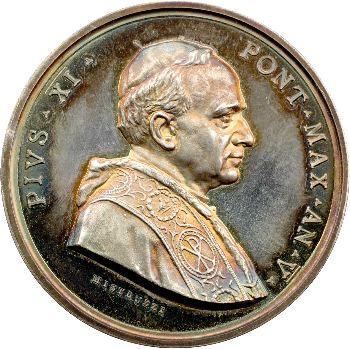 Vatican, Pie XI, médaille annuelle, l'Archéologie et les Catacombes, 1926