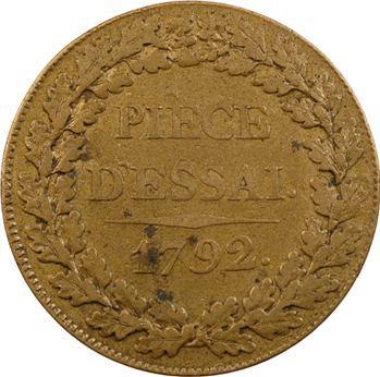 Convention, essai au module d'un sol (12 deniers), 1792
