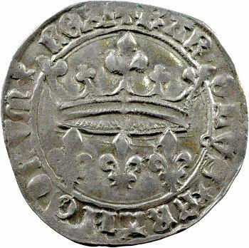 Charles VII, blanc aux lis accotés, Tours