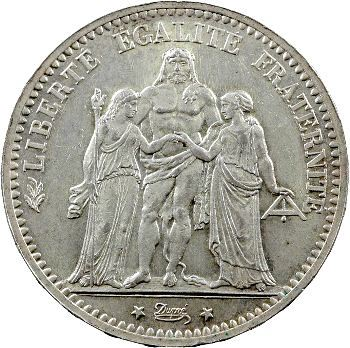 IIIe République, 5 francs Hercule, 1873 Paris
