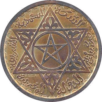 Maroc, Mohammed V, essai-piéfort de 100 francs, AH 1372 (1953) Paris