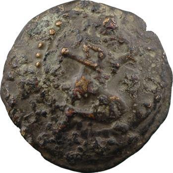Bellovaques, bronze au personnage agenouillé et sanglier, classe IV, Ier s. av. J.-C