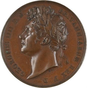 Royaume-Uni, couronnement du Roi Georges IV, par Benedetto Pistrucci, 1821