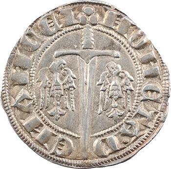 Lorraine (duché de), Thiébaut II, quart de gros dit spadin (DVX.), s.d. Nancy