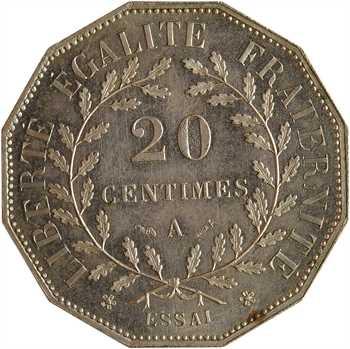 IIIe République, essai de 20 centimes Dupré, 1881 Paris