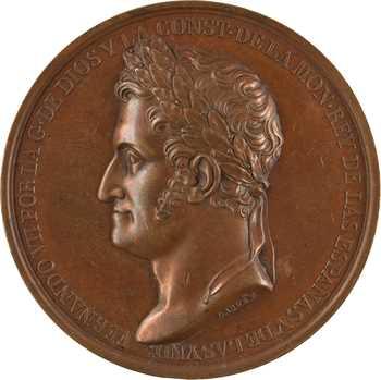 Espagne, Ferdinand VII, restauration de la constitution, par Barre et Caqué, 1820 Paris